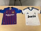 Barcelona Real Madrid El Classico Vintage Kids Football Shirt Messi Ronaldo