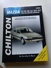 1978 1979 1980-1987 1988 1989 MAZDA GLC 323 626 929 MX6 MPV RX7 REPAIR MANUAL