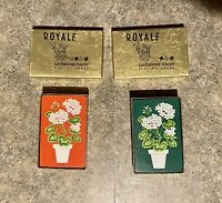Two Decks of VINTAGE ROYALE Potted Flowers Playing Cards