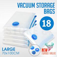 18 x Vacuum Storage Bags - LARGE 70x100cm - Space Saving - BULK Buy Saver