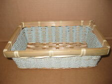 SMALL AQUA WICKER BASKETS GIFT TABLE DISPLAY HOME STORAGE CRAFTS CHRISTMAS