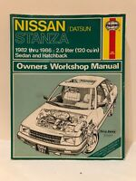 Haynes Repair Manual 82-86 Nissan / Datsun Stanza Sedan & Hatchback # 981