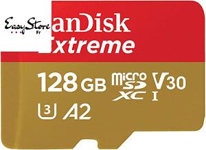 SanDisk Extreme Carte Mémoire MicroSD 32Go 64Go 128Go 256Go 512Go Puissant