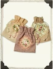 Victorian Trading Co Hand Embroidered Pouches (set of 3)