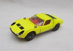 Vintage Corgi Toys 342 Lamborghini Miura P400 Car - Made In Gt Britain