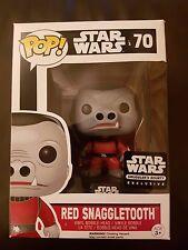 Star Wars Rojo Snaggletooth contrabandistas Bounty Pop Vinilo-Nuevo Exclusivo En! Stock