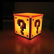 Offiziell Nintendo Super Mario QUESTION BLOCK Nacht Licht Nachttischlampe -