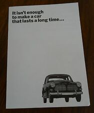 Volvo It Isnt Enough to Make a Car that Lasts Flyer Sales Aide Brochure Booklet