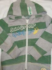 Boys Duffer hoody age 4yrs Grey and green striped