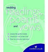 Confetti: Wedding Readings, Poems and Vows - Very Good Book confetti.co.uk