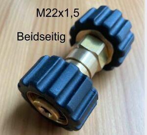 Kupplung für Kärcher Kränzle Falch Oertzen Beidseitig M22 Überwurf  2 mal M22 IG