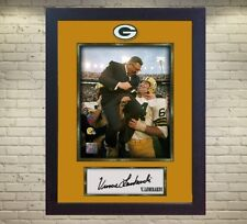 Vince Lombardi Green Bay Packers NFL signed autograph photo print Framed