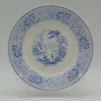 """T J & J Mayer Longport NONPAREIL Blue 6 1/4"""" Salad Plate Antique Circa 1843-1855"""
