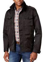 Tasso Elba Men's Four-Pocket Jacket Light Coat Black Regular Fit Size Large New
