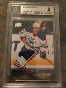 2015-16 Young Guns #201 CONNOR MCDAVID Rookie Card BGS 9 With 10, Mint !!!