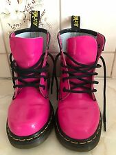 Gorgeous Girls Pink Patent Leather Dr Marten Martin Boots UK 1 US 2 EU 33 VGC