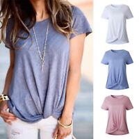 Women Ladies Long Sleeve Loose Blouse Tops Ladies T-Shirt Pullover Tie Plus Size