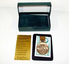 Vintage Mens Golf 22kt Gold Or Palladium Electroplate Money Clip/Card Holder