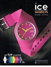 Publicité Advertising 067  2013  la nouvelle collection montres Ice Watch