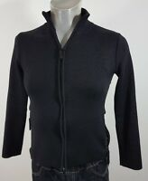 Timberland womens black wool mix zip up top Small suit size 8/10