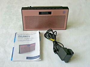 Majority Histon II DAB/DAB+ Digital & FM Portable Radio & Dual Alarm Clock