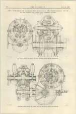 1925 Schneider Hydro sezione INGRANAGGIO TRASMISSIONE MECCANICA diagramma