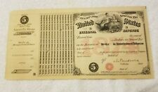 1874 UNITED STATES STAMP FOR SPECIAL TAX INTERNAL REVENUE TOBACCO $5.00 PAID