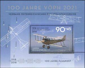 Austria 2018 Plane/Aircraft/Aviation/Air Mail/Postal Transport 1v m/s (at1325)