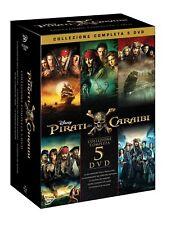 PIRATI DEI CARAIBI - COLLEZIONE 5 FILM (5 DVD) COFANETTO UNICO, ITALIANO, NUOVO