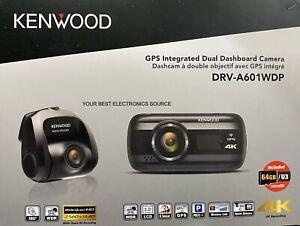 "NEW Kenwood DRV-A601WDP 4K Ultra HD Dashcam, 3"" Display, WiFi, GPS Rear View Cam"