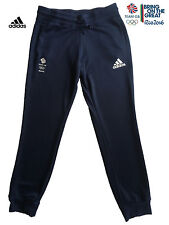 ADIDAS TEAM GB RIO 2016 ELITE FEMALE OLYMPIC ATHLETE ESS SWEAT PANTS Size 12