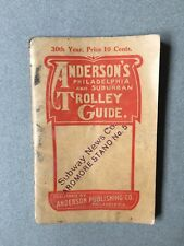 1909 Anderson's Philadelphia and Suburban Trolley Guide