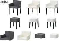 IKEA NILLS Chair With Armrests, Stool, Separate Covers