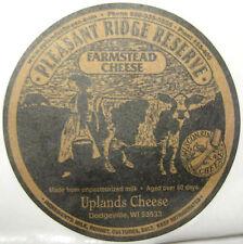 PLEASANT RIDGE RESERVE FARMSTEAD CHEESE STICKER, Label, Dodgeville, WISCONSIN