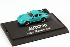 1:87 Porsche 911 turbo Typ 930 turquoise Exhibition model Car 90 - herpa