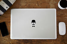 """Bowler, Glasses & Moustache Decal for Apple MacBook Air/Pro 11"""" 12"""" 13"""" 15"""""""