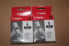 CANON Lot  2 Cartouches Black Noir  6 Noir Black - BCI-6BK- Pour IP4000 - MP750