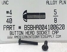 #4-40x5/8 Button Head Hex Socket Cap Screws Alloy Steel Black (40)