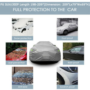 Universal Fit SUV JEEP Car Cover Waterproof UV Rain weather Outdoor Protection