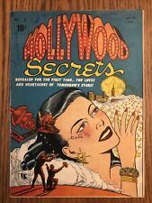 HOLLYWOOD SECRETS #1 (Nov 1949) Ward c/a RARE GOLDEN AGE ROMANCE Incomplete