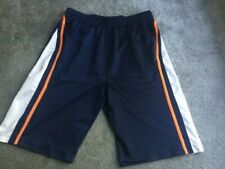 Mens Blue and White Color Running Athletic Shorts Size Small w/ Pockets