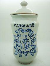"ALBARELO, Apothecary Jar Pharmacy Drugstore TARRO cerámica ""C VIOLARU"" Talavera"
