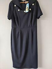 BNWT Betty Page By Tatyana Pencil Marine Dress Large Vintage XXL 16 18