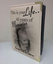 Personalizadas Foto Álbum, libro de memoria, este es su vida, cuadragésimo Cumpleaños Regalo