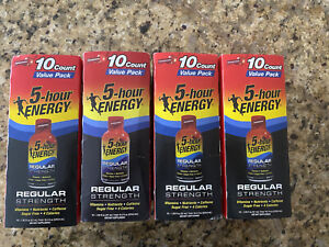 5 Hour Energy Shot regular Strength Pomegranate Flavor 40 Bottles Regular Value