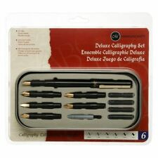 Manuscript Deluxe Calligraphy Fountain Pen Set With 6 Different Sized Nibs