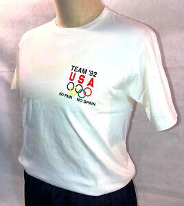 K103 USA OLYMPIC TEAM T SHIRT - BARCELONA 1992 - ADULT M  - NEW !
