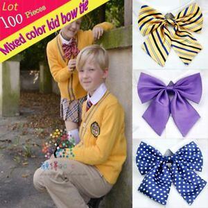 (100 pcs/lot) Women Children Kid Adjustable Bow Tie Floral Butterfly Bowtie