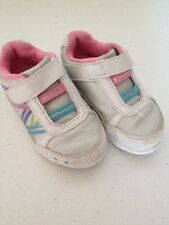 Toddler Size 5 Smart Fit Tennis Shoes Pink White Blue Purple Green