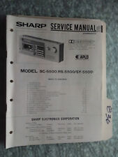 Sharp SC RS SY 5500 service manual original repair book stereo radio tape deck